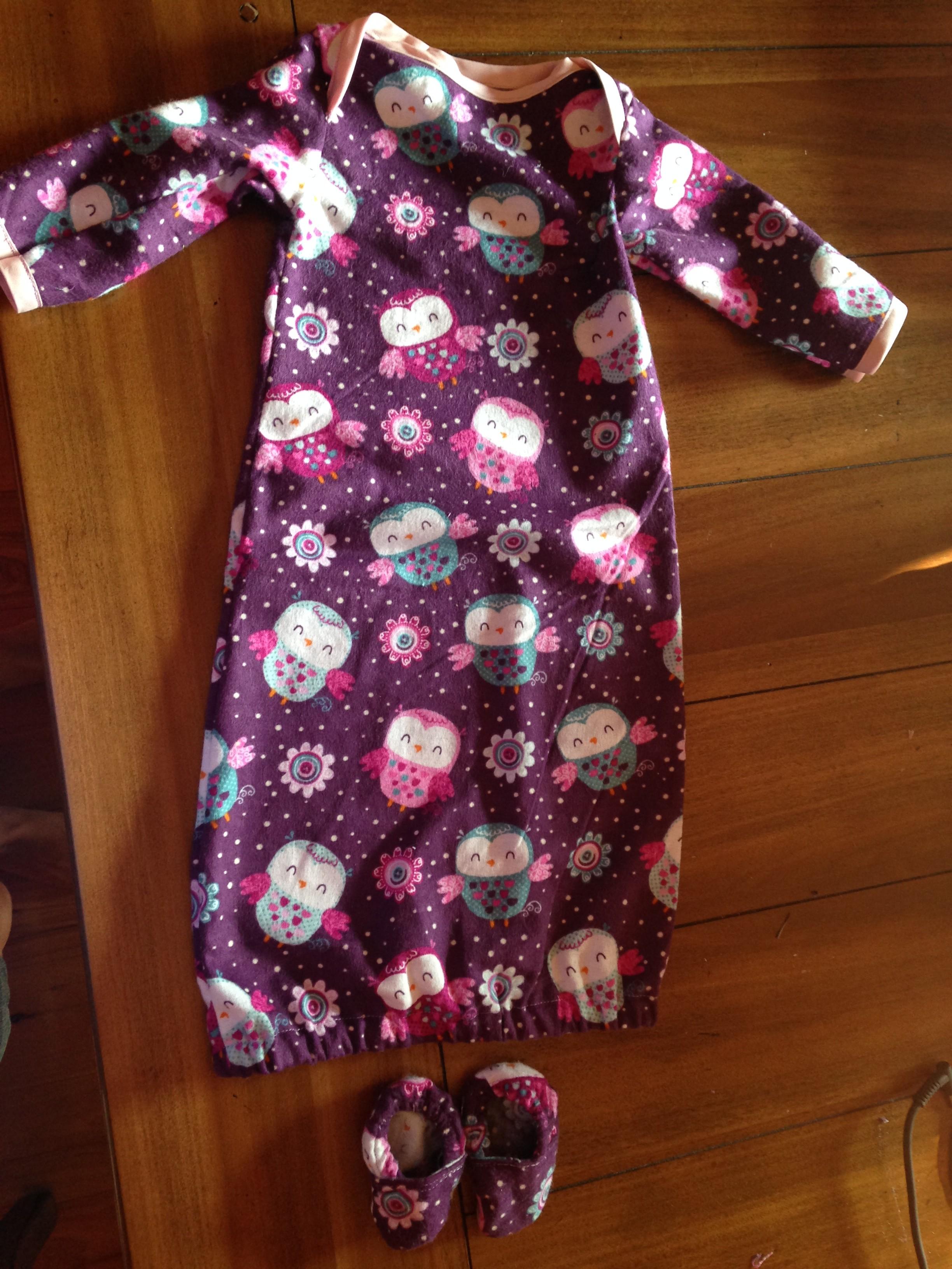 sew baby sleeper gown – Cecelia\'s Spot
