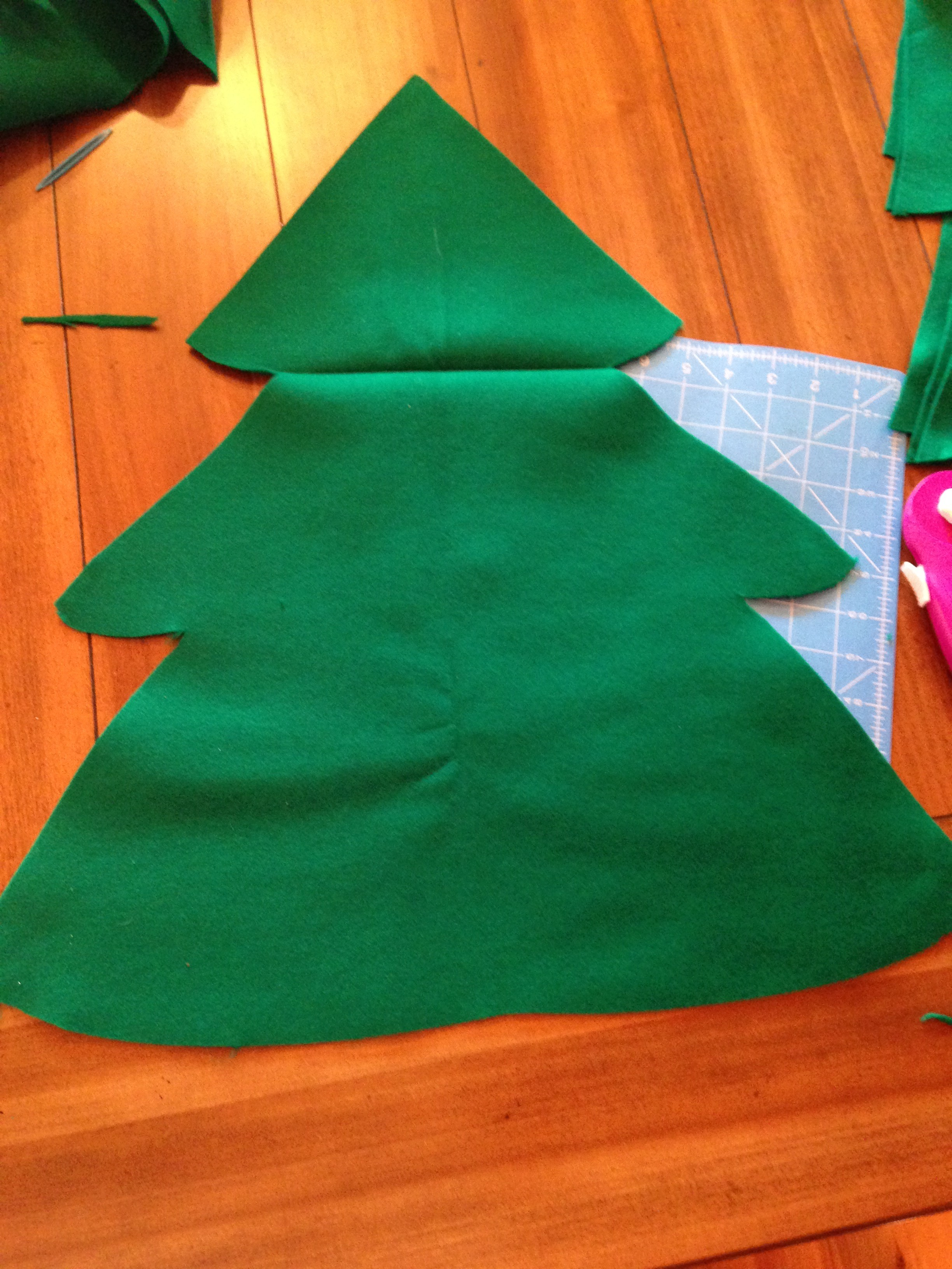 2 Next If You Want A Stump Use Brown Fabric To Cut One Out Once Again Can Trace It Either Sew On The Bottom Or Hot Glue